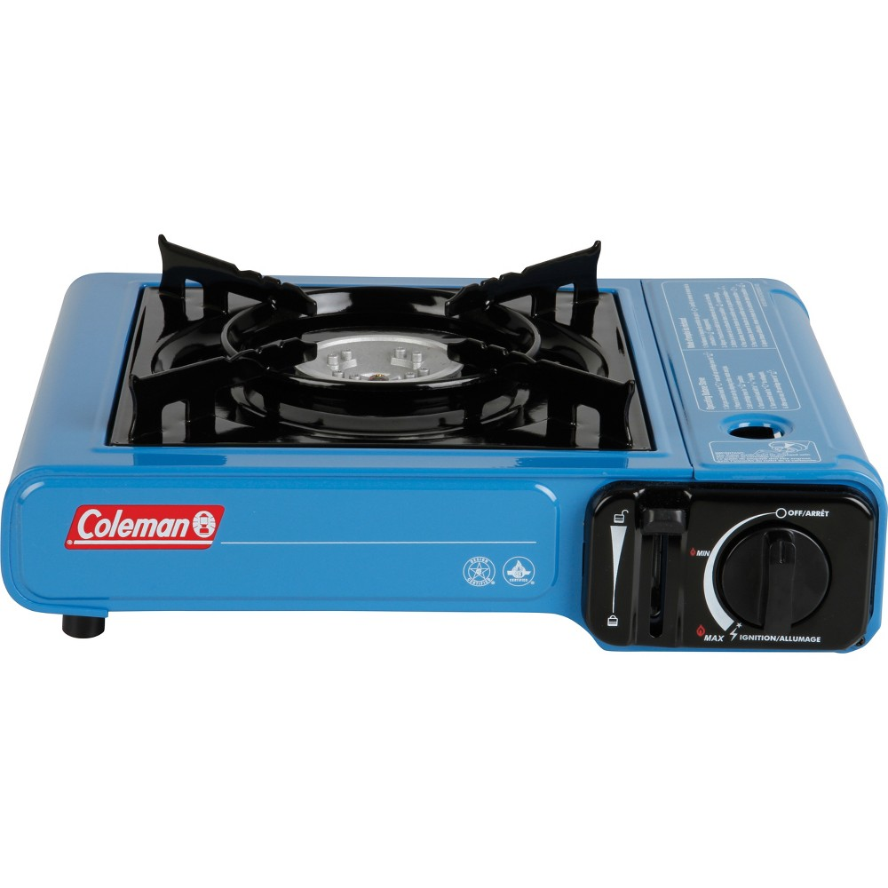 Image of Coleman 1-Burner Table Top Butane Stove, Blue