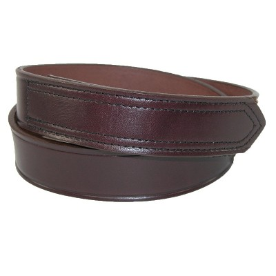 """Boston Leather Mens 1.5"""" Leather No Scratch Work Belt"""