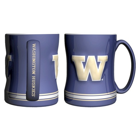 Washington Huskies Boelter Brands 2 Pack Sculpted Relief Style Coffee Mug - Purple (15 oz) - image 1 of 1