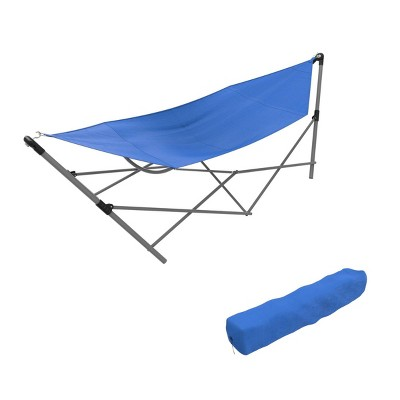 Wakeman Portable Hammock with Stand - Blue