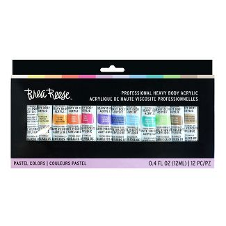 Brea Reese 12pc Professional Heavy Body Acrylic Pastel Colors