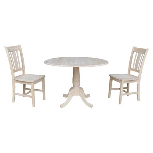 """29.5"""" Wally Round Table with Two San Remo Chairs Blue - International Concepts - image 1 of 4"""