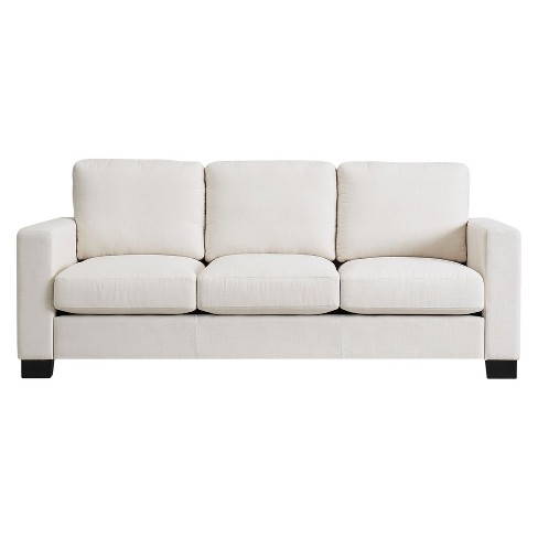 Carnegie Hill Down Filled Sofa White - Inspire Q® - image 1 of 7