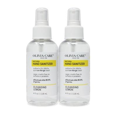 Olivia Care Hand Sanitizer - Lemon - 2pk/4 fl oz