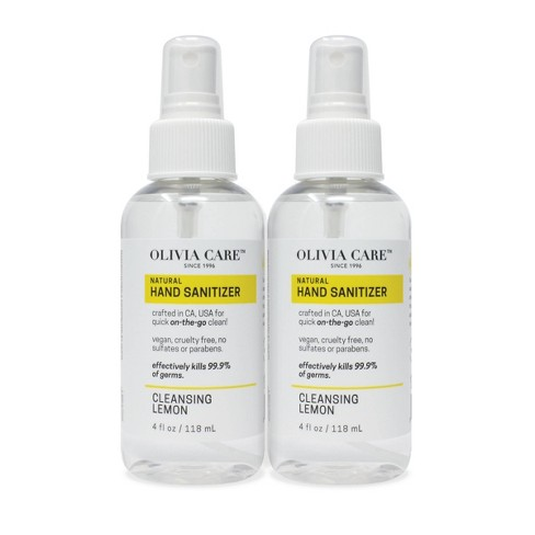 Olivia Care Hand Sanitizer - Lemon - 2pk/4 fl oz - image 1 of 3