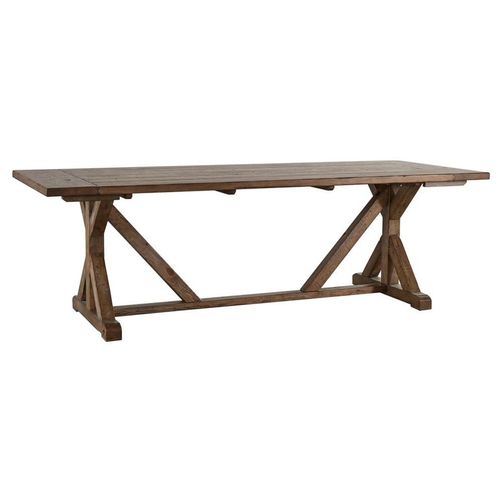 Walton Park Reclaimed Wood Farmhouse Trestle Dining Table - Reclaimed Pine - Inspire Q