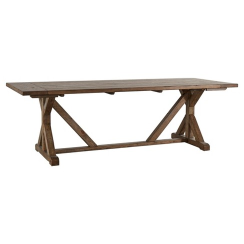 Walton Park Reclaimed Wood Farmhouse Trestle Dining Table Reclaimed Pine Inspire Q Target