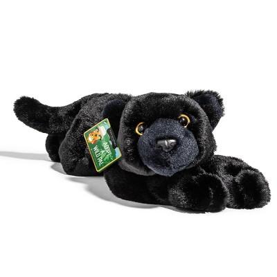 """FAO Schwarz Adopt A Wild Pal Endangered Black Panther - 15"""" Toy Plush"""
