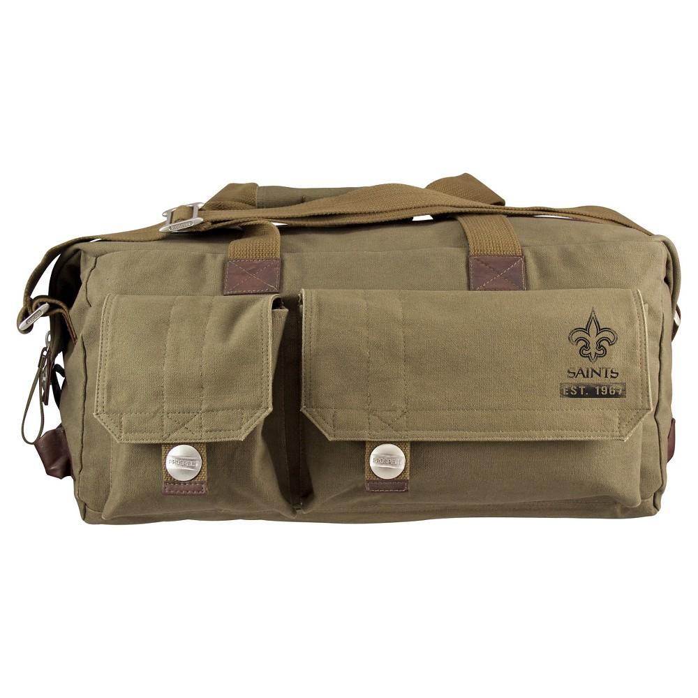 New Orleans Saints Little Earth Large Prospect Weekender Bag, Olive Drab