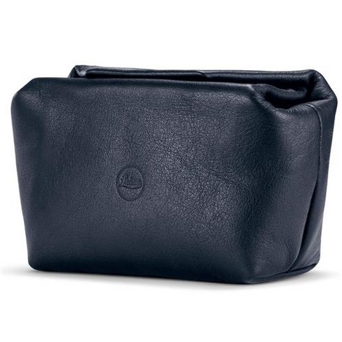 Leather Soft Pouch with Magnetic Closer, Size S, Blue - fits Leica C-Lux, D-Lux and Leica C - image 1 of 1