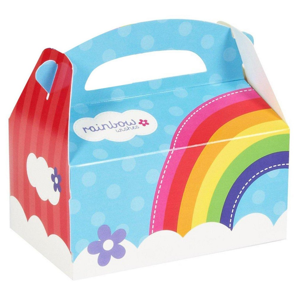 8 ct Rainbow Wishes Favor Boxes, Multi-Colored