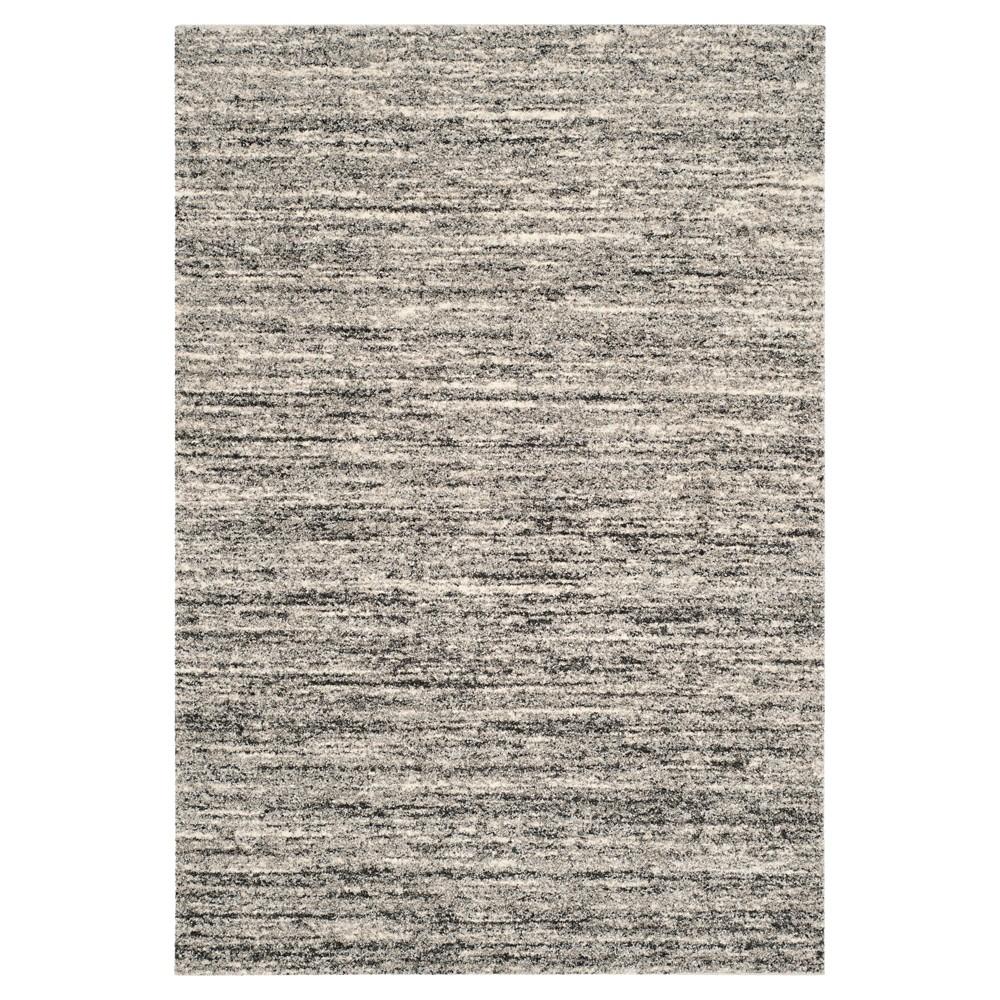 Ivory/Gray Abstract Shag/Flokati Loomed Area Rug - (4'X6') - Safavieh