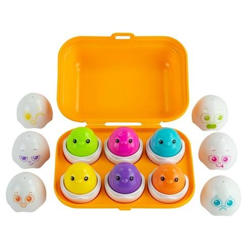 Lamaze Sort & Squeak Eggs, Shape Sorter, Color Matching Toy - image 1 of 4