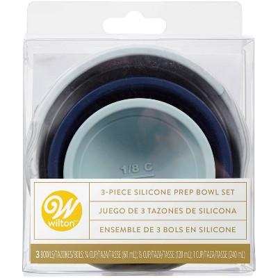 Wilton 3pc Sylish Silicone Prep Bowl Set