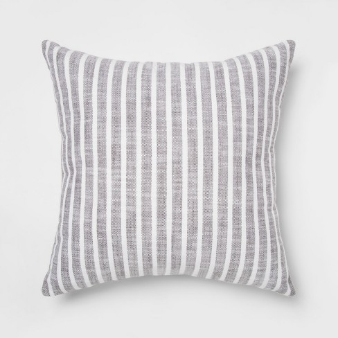 Woven Stripe Square Throw Pillow - Threshold™ - image 1 of 2