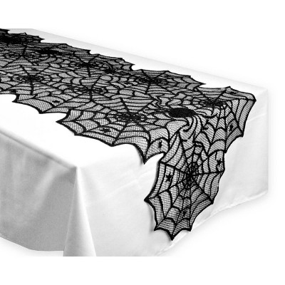 Halloween Lace Table Runner Black - Design Imports