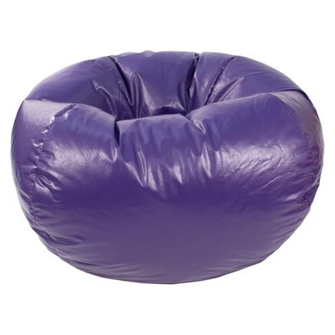 Outstanding Medium Vinyl Bean Bag Chair Purple Gold Medal Uwap Interior Chair Design Uwaporg