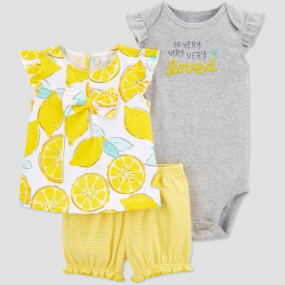 Baby Girls' Lemon Top & Bottom Set - Just One You® made by carter's Yellow 6M