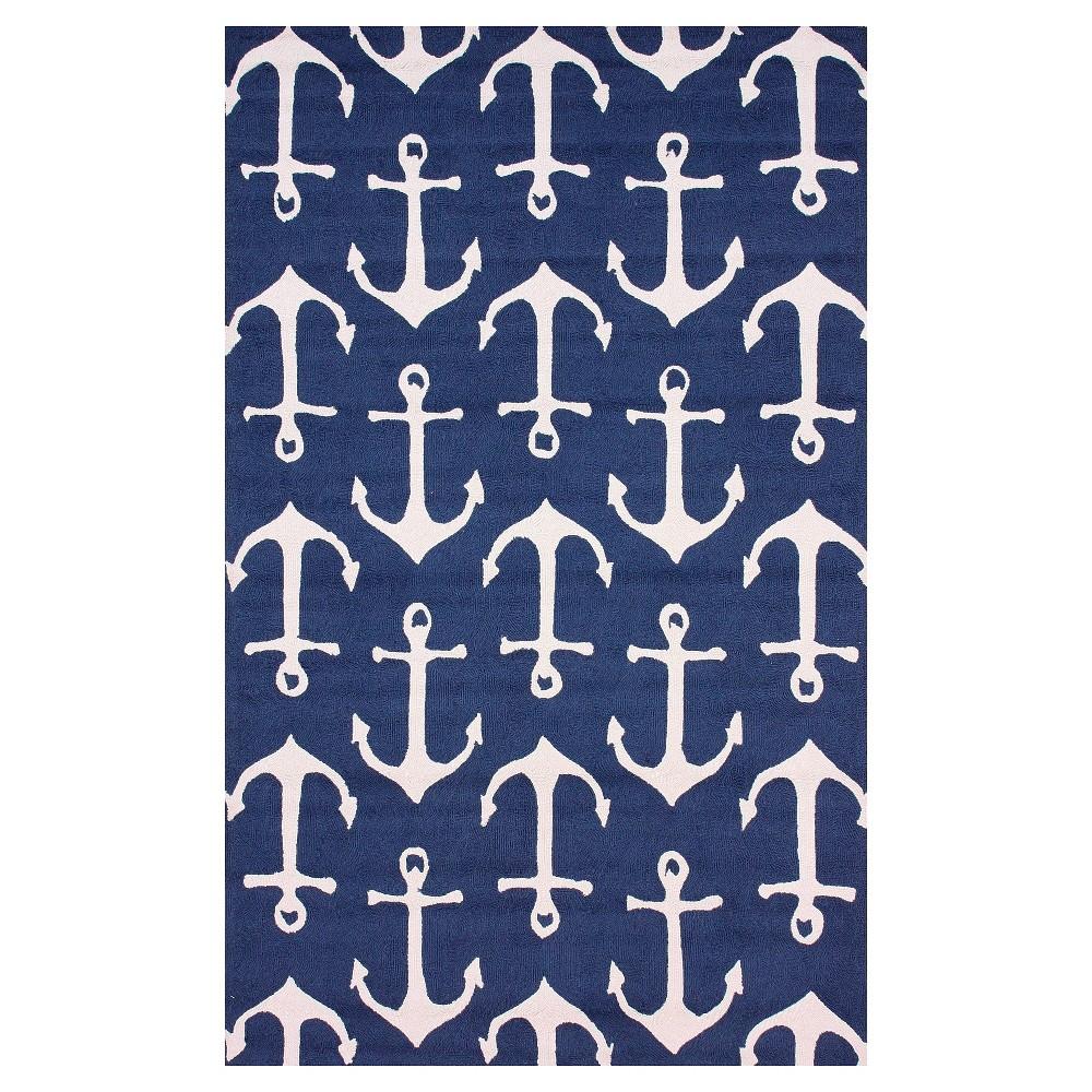 nuLOOM Hand Hooked Ahoy Indoor/ Outdoor Area Rug - Blue (8' x 10')