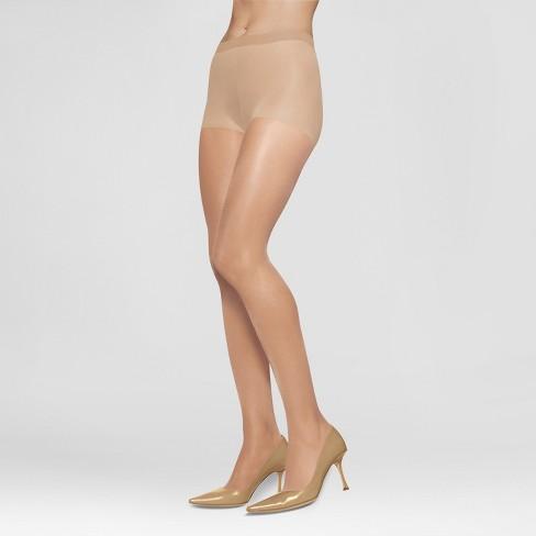 536772e7300fd L eggs Women s Silken Mist 2pk Control Top - Nude M   Target