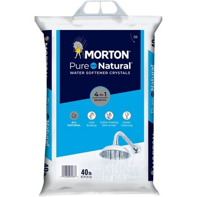 Pure and Natural Water Softener Salt Crystals - 40lbs - Morton