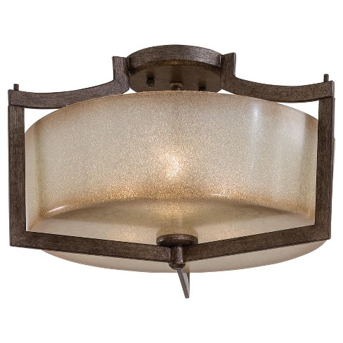 """Minka Lavery 4397 3 Light 17"""" Wide Semi-Flush Ceiling Fixture from the Clarte Collection - image 1 of 1"""
