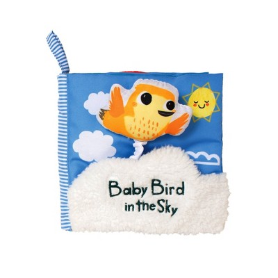 Manhattan Toy What's Outside? Sky-Themed Soft Baby Activity Book with Squeaker