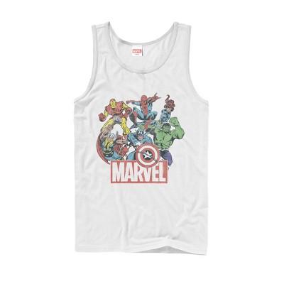 Men's Marvel Classic Hero Collage Tank Top
