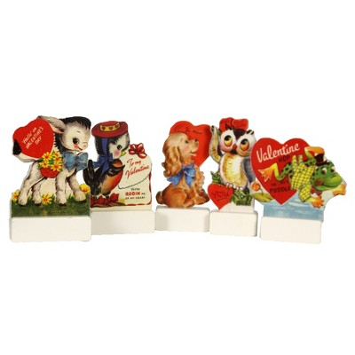 """Valentine's Day 4.75"""" Valentine's Day Dummy Boards Stand Up Love Hearts Primitives By Kathy  -  Decorative Figurines"""