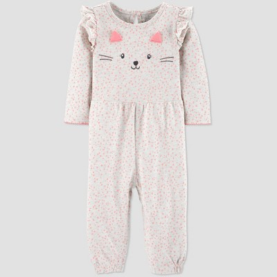 Baby Girls' Kitty Jumpsuit - Just One You® made by carter's Pink/Gray 6M
