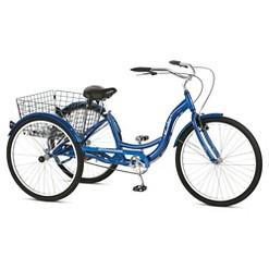 "Schwinn Adult Meridian 26"" 3-Wheel Bike - Blue, Adult Unisex"