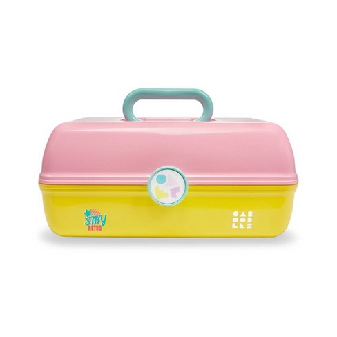 Caboodles On The Go Girl Cosmetic Bag - Pink and Yelllow - image 1 of 3