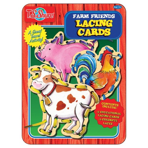 T.S. Shure - Farm Friends Lacing Cards Activity Tin - image 1 of 1