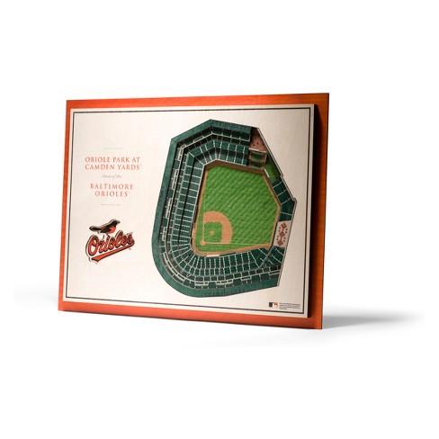 MLB Baltimore Orioles 5-Layer Stadiumviews 3D Wall Art - image 1 of 4