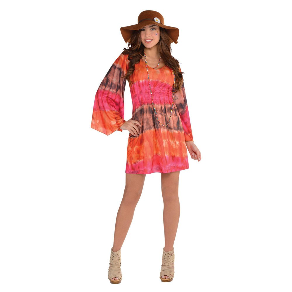Hippie Costumes, Hippie Outfits Womens Festival Dress Halloween Costume One Size Multi-Colored $30.00 AT vintagedancer.com