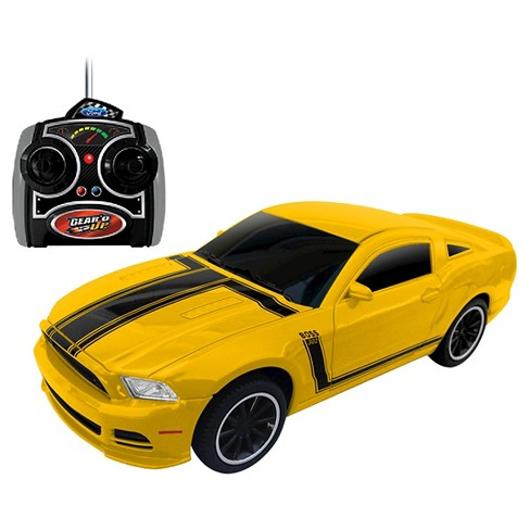 Jam'n Products Ford Mustang Boss 302 Remote Control Gear'd Up Vehicle, Yellow - 1:24 Scale - image 1 of 1