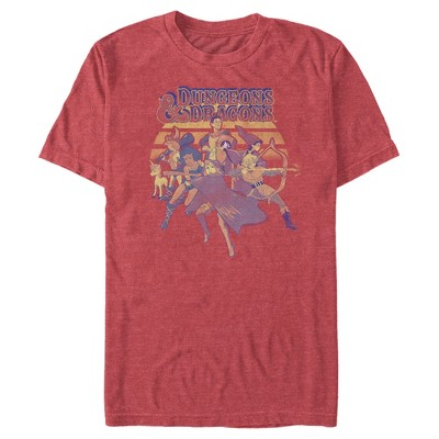 Men's Dungeons & Dragons Retro Cartoon Characters T-Shirt