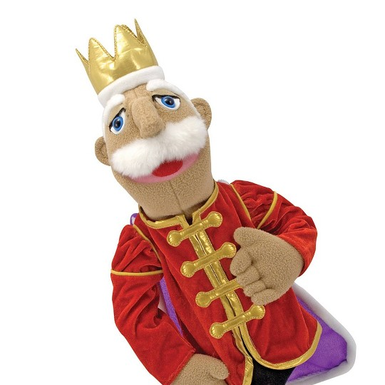 Melissa & Doug King Puppet With Detachable Wooden Rod for Animated Gestures image number null