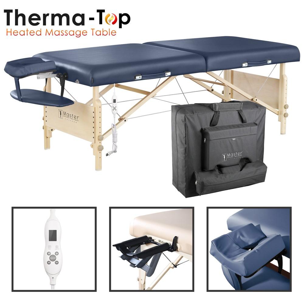 Image of Coronado Therma Top Massage Table, Black