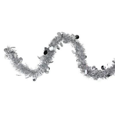 "Northlight 50' x 2.5"" Silver Shiny Tinsel Artificial Christmas Garland - Unlit"