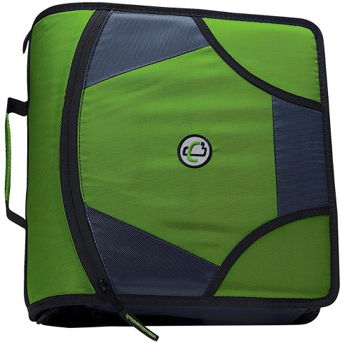 Case-it Zipper Binder with 5 Tab Files, D-Ring, 4 Inches, Green - image 1 of 3