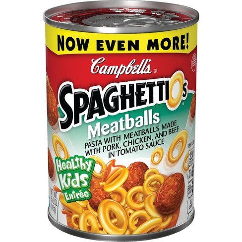 Campbell's SpaghettiOs with Meatballs 14 oz - image 1 of 4