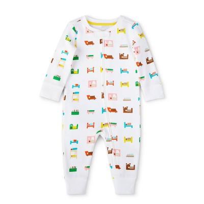 Baby Bed Print Long Sleeve Pajama - Christian Robinson x Target White