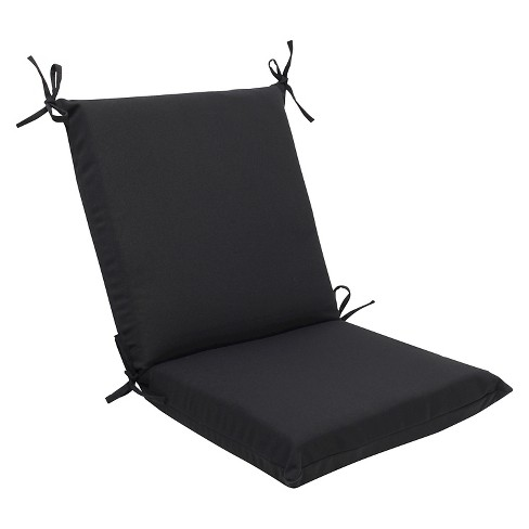 Sunbrella Canvas Outdoor Squared Edge Chair Cushion Black Target