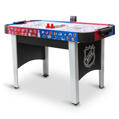 EastPoint Sports 48 Inch Rush NHL Electronic Indoor Hover Hockey Game Table Set with 2 Pucks, 2 Pushers, and LED Scoring for Multiple Player Air Play