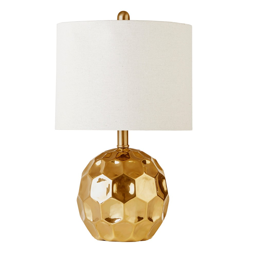 """Image of """"12"""""""" x 12"""""""" Frill Table Lamp Gold (Lamp Only)"""""""