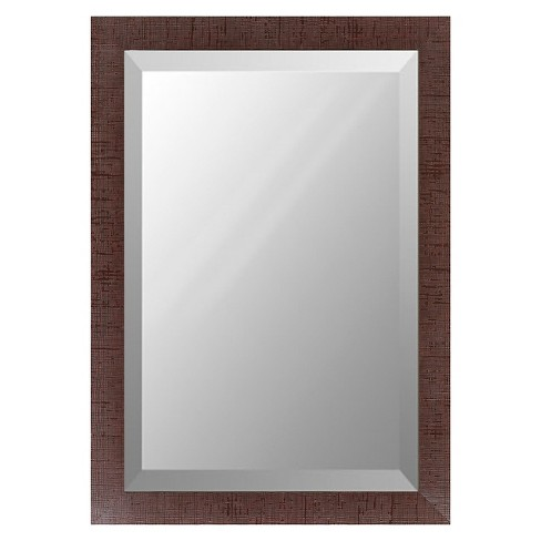 Rectangle Chatwyn Decorative Wall Mirror Brown - Surya - image 1 of 1