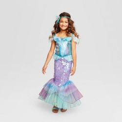 Kids' Mystic Mermaid Halloween Costume Dress (with Headband) - Hyde & EEK! Boutique™