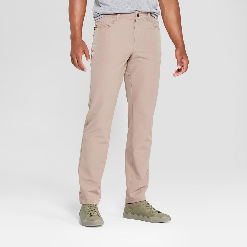 Mpg Sport Men's Slim Fit Stretch Woven Pants - Caribou Khaki 32x30