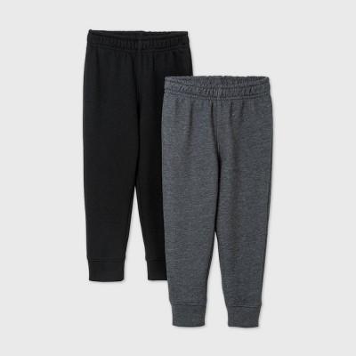 Toddler Boys' 2pk Fleece Pull-On Pants - Cat & Jack™ Black